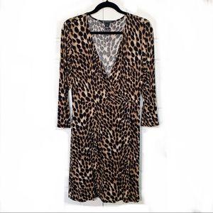 INC faux wrap dress